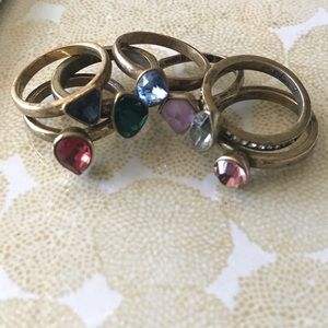 7 stackable rings